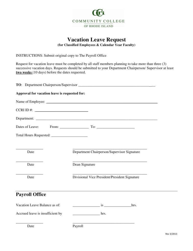 5+ Vacation Leave Letter Templates - PDF | Free & Premium ...