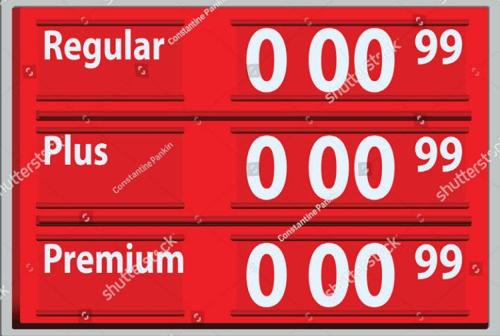 vector-gasoline-price-signage-template