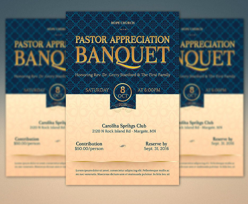 vintage church pastor appreciation banquet template 788x650