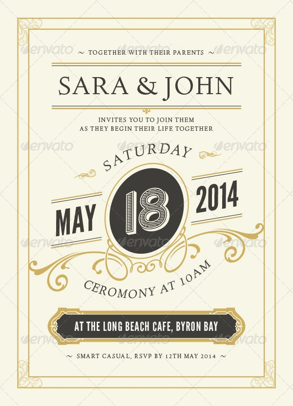 vintage-marriage-invitation-template