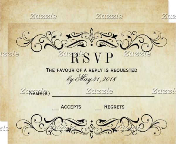 vintage-wedding-rsvp-postcards-elegant-flourish
