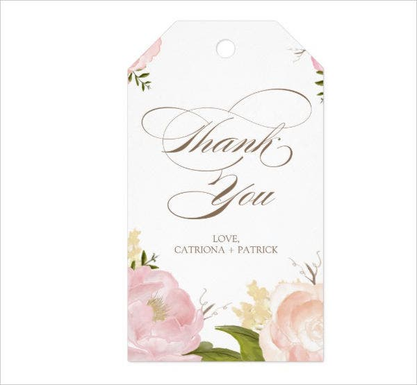 watercolor flowers printable hang tag template