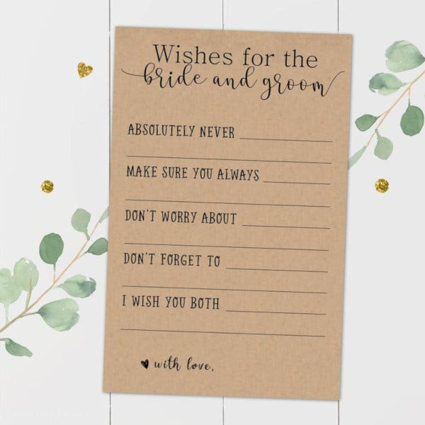 wedding bride and groom wishes