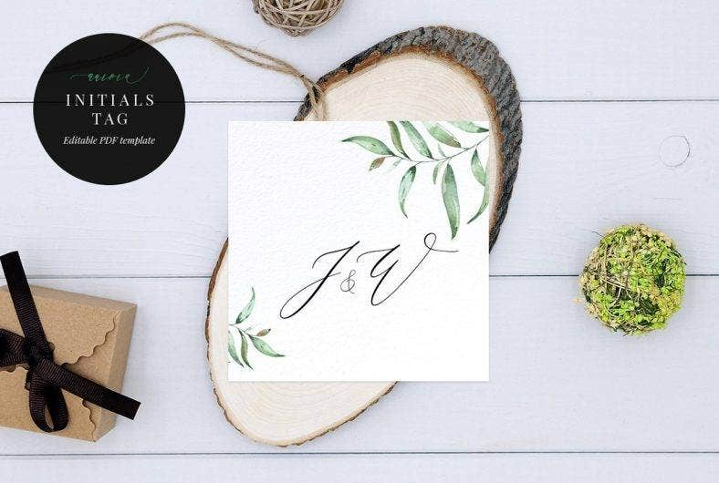 wedding initials printable hang tag template 788x530