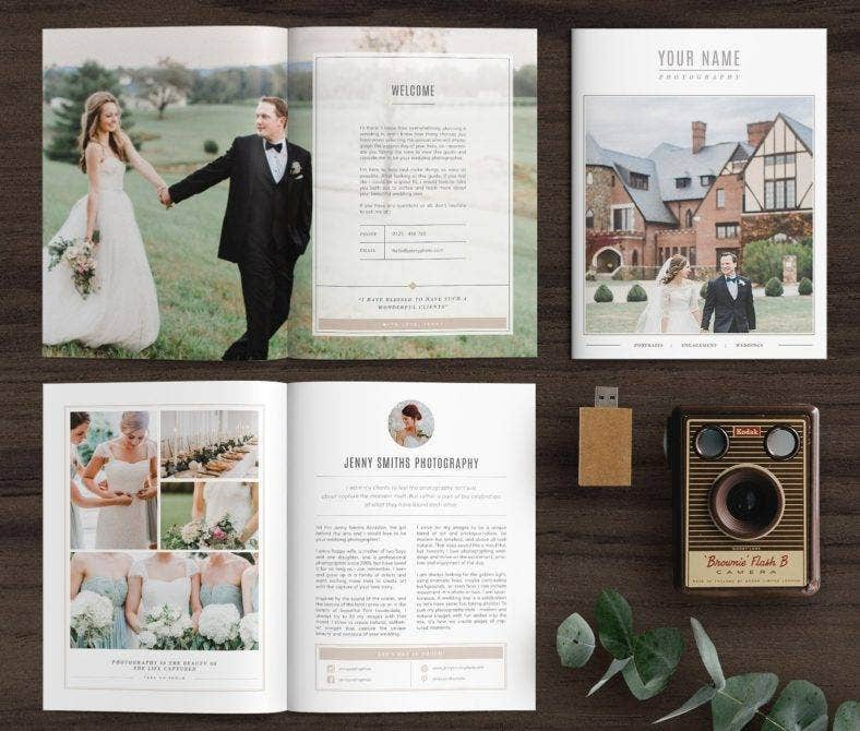 wedding magazine template 788x670
