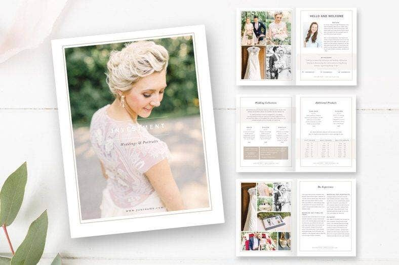 wedding photographer magazine template 788x524