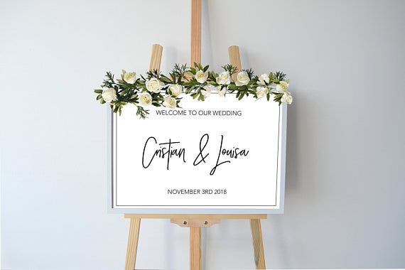 welcome-sign-wedding-engagement