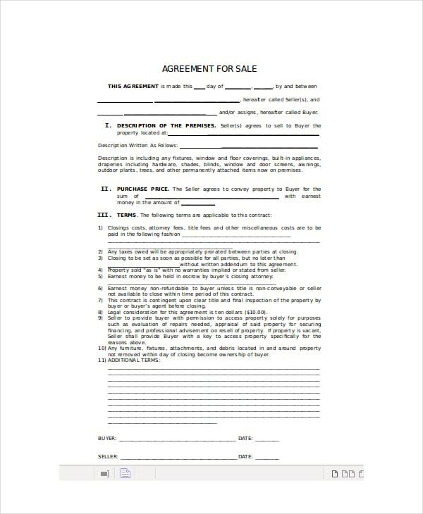 wholesale buying agreement
