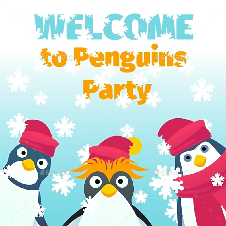 winter penguin party invitation template 788x788