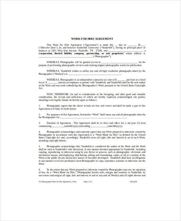 work for hire agreement example