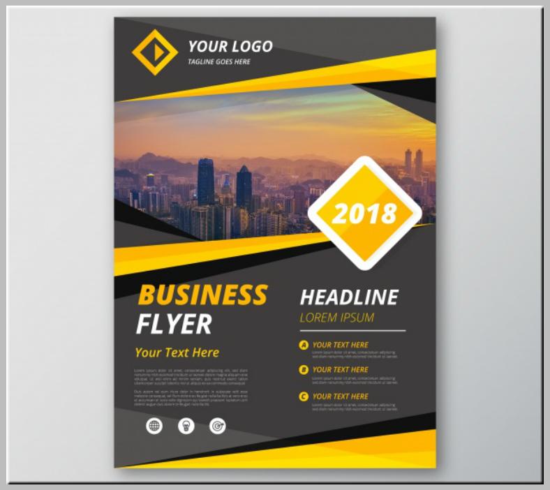 Yellow Gray Modern Business Flyer Template