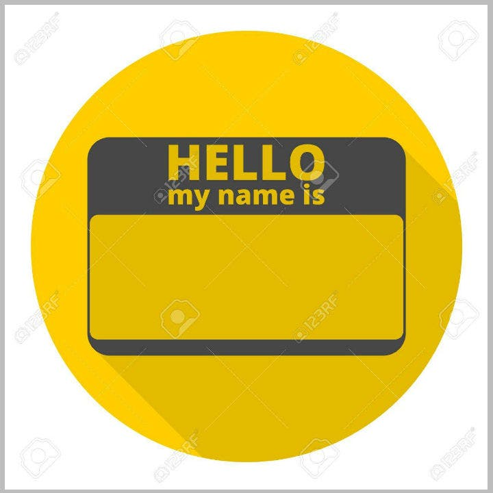yellow-name-placard-illustration-template