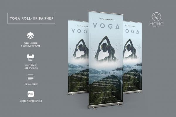 Yoga Roll-Up Banner
