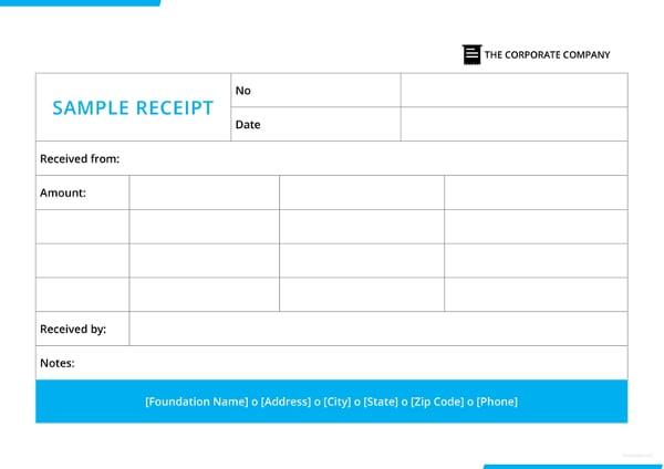 ample receipt template