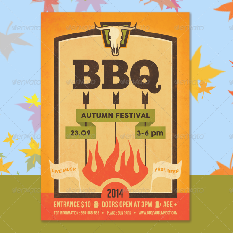 bbq-hipster-flyer-template