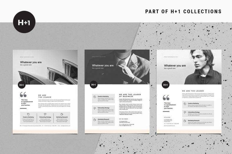 black-and-white-b2b-flyer-template