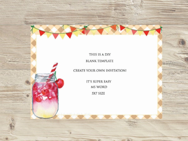 9  blank invitation templates