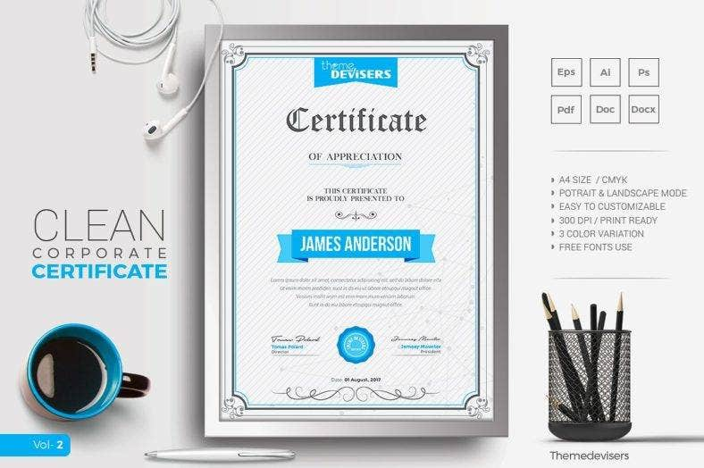 clean-company-training-certificate-template
