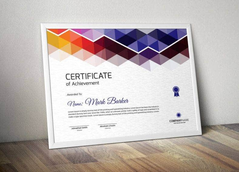 colorful certificate of appreciation for training template 788x569