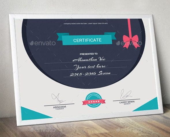 flat certificate of appreciation for training template e1526347898894
