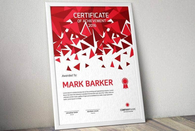 geometric certificate of appreciation for training template 788x528