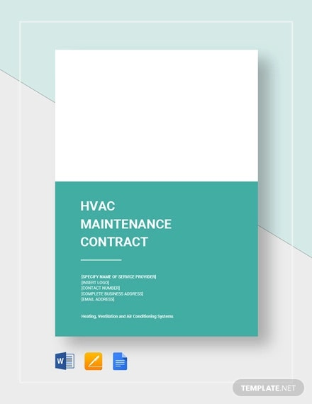 hvac maintainence contract