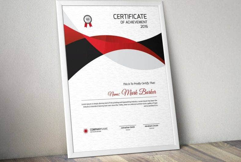 minimalist certificate of appreciation for training template 788x528