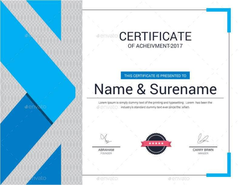 modern certificate of appreciation for training template 788x613