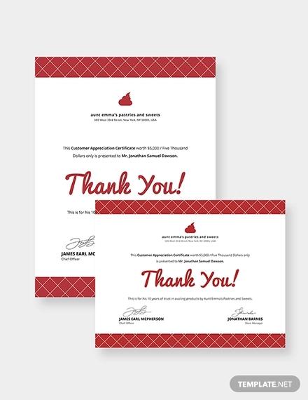 modern customer appreciation