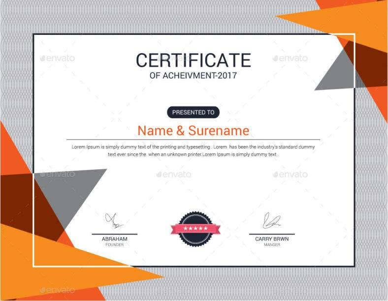 neat certificate of appreciation for training template 788x612