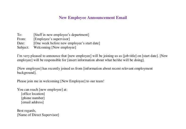 new-employee-email-announcement-template