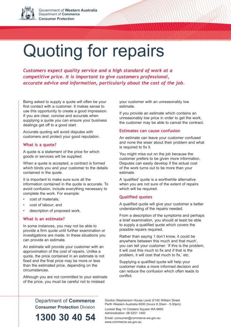 6  auto repair estimate templates