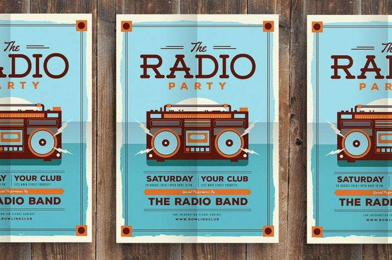 radio-party-hipster-flyer-template