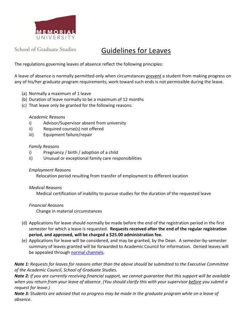 5 Request Letter Templates For Leave Pdf Free Premium Templates
