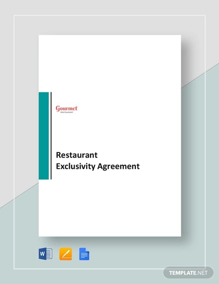 12+ Exclusivity Agreement Templates - PDF, Word, Pages