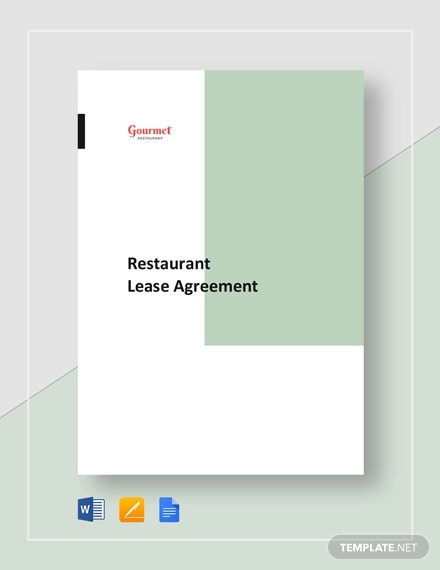 10 Lease Agreement Templates For Restaurant Cafe Bakery