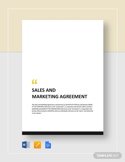 sales and marketing agreement