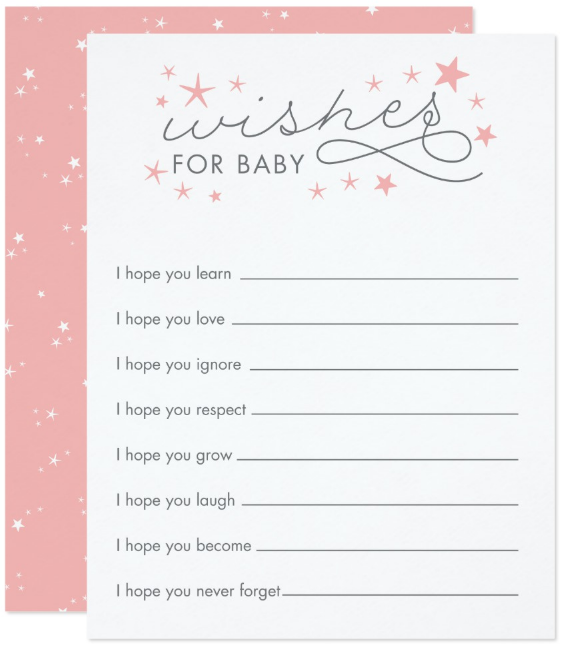 wishes for baby printable template - 11 baby wishes card designs templates psd ai free