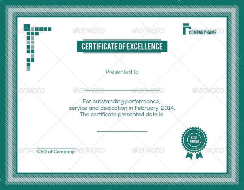 straightforward certificate of appreciation for training template 788x613