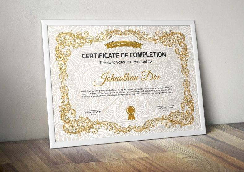 traditional certificate of appreciation for training template 788x557