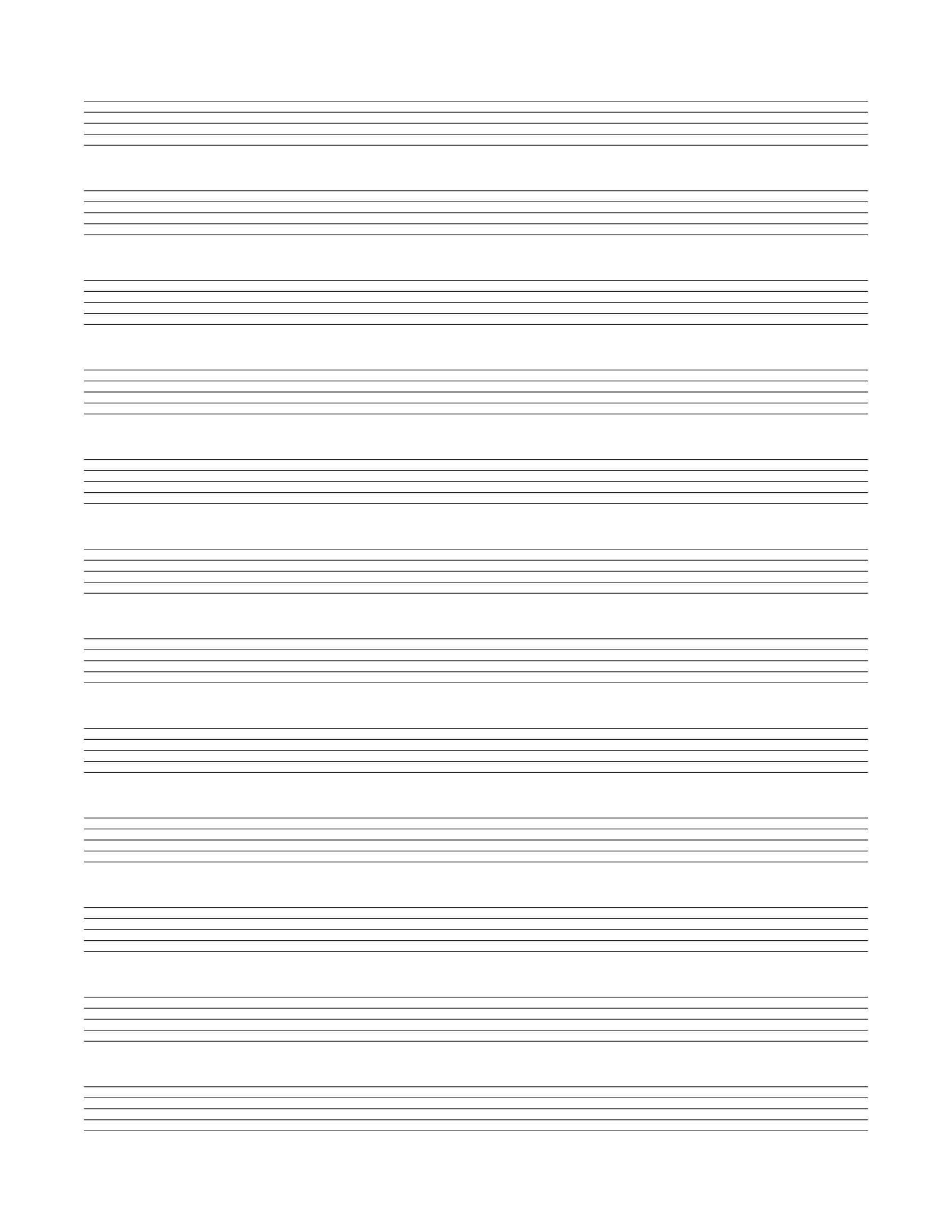 10 stave manuscript paper