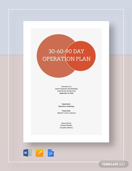 30 60 90 day operations plan template