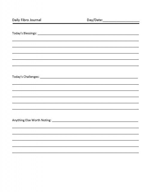 daily journal word template