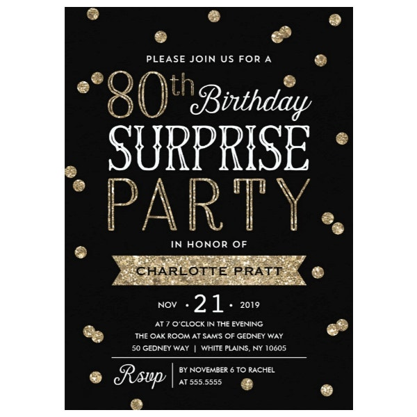 80th-glitter-confetti-surprise-party-invitation