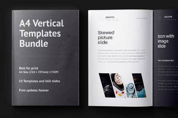 A4 Vertical Brochure Template Bundle