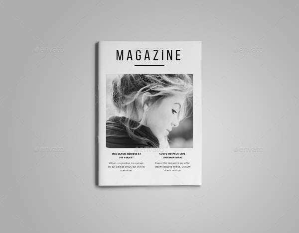A5 Minimal Magazine Template