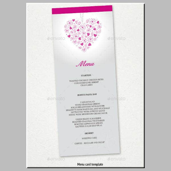 Abstract Wedding Menu Template