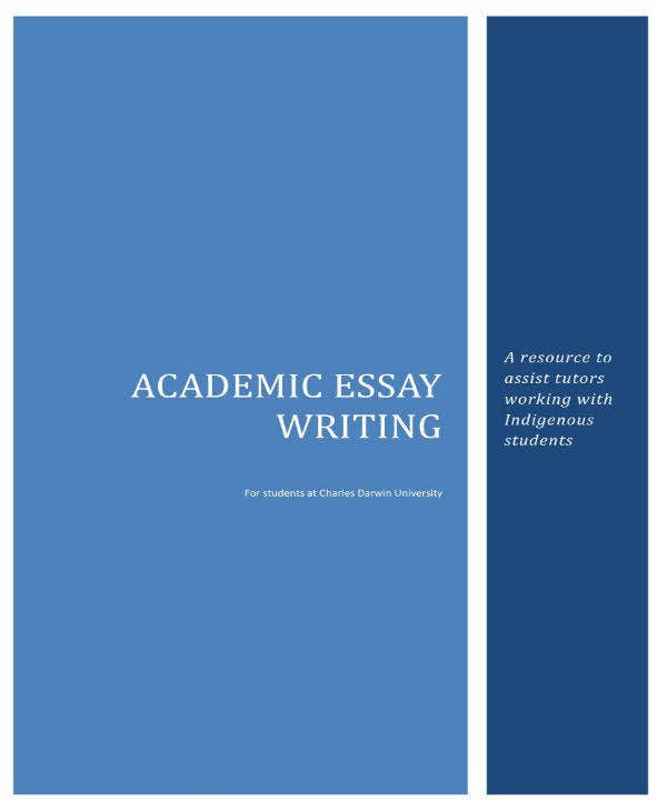 academic essay writing resource sample