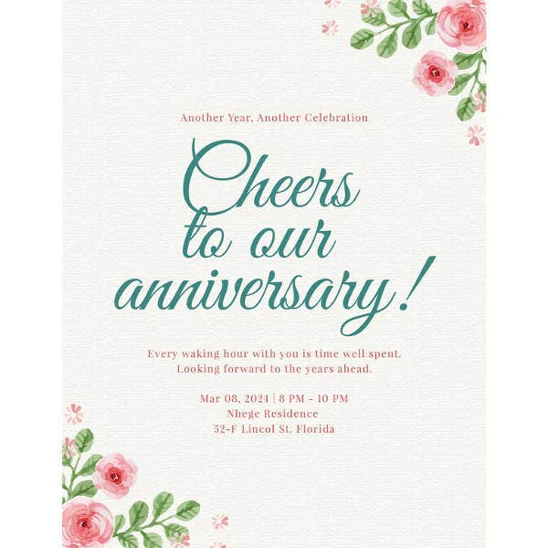 Anniversary Program Template