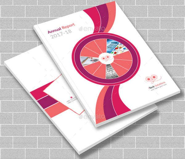 Annual Report Vertical Brochure Template